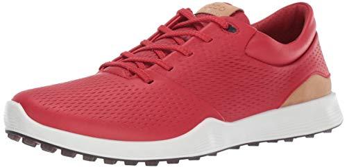 ECCO Women's S-Lite Golf Shoe, Tomato Yak Leather, 10 M US