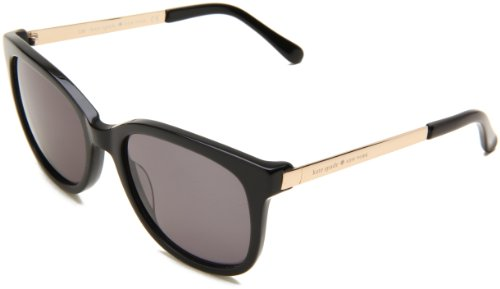 Kate Spade Women's Gaylas Oval Sunglasses,Black Frame/Dark Gray Lens,One - Spade Case Kate Eye