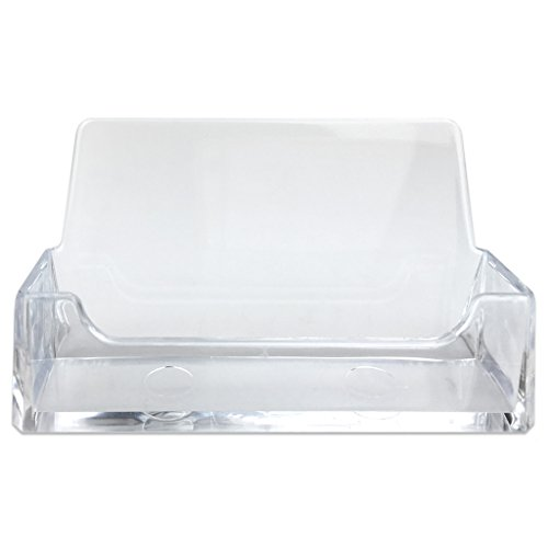 Beauticom Professional Acrylic Clear Standard Business Card Holder Desk Display Stand (500 Pieces) by Beauticom