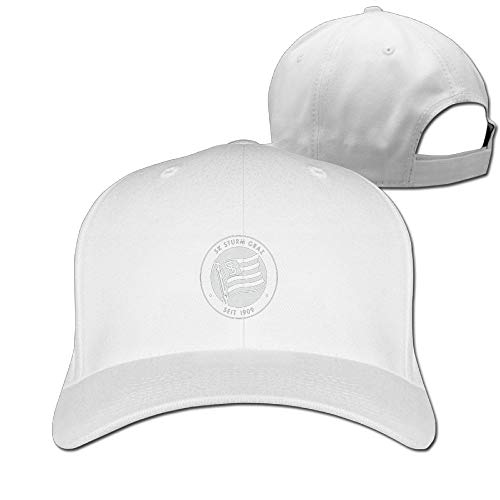 (Sk Sturm Graz Austria Soccer Football Unisex Men's Cap Originals Low Profile Cotton Baseball Cap Hat White)