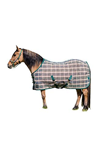 Kensington Platinum SureFit Protective Fly Sheet for Horses - SureFit Cut with Snap Front Chest Closure - Made of Grooming Mesh This Sheet Offers Maximum Protection Year Round - 81