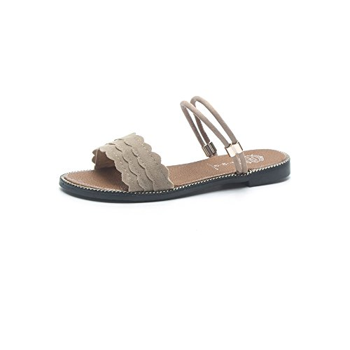 Queena Wheeler Fashion Summer Slipper Sandals Women Casual Beach Flip Flops Slides Shoe Flat Plus Size White