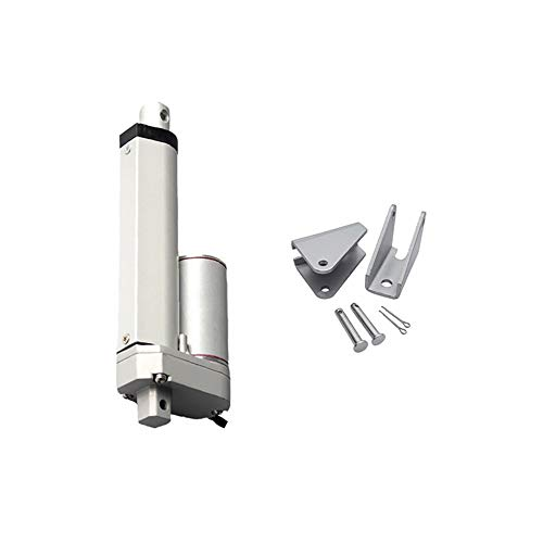 GUWANJI 12V DC 100mm 4 Inch Stroke Classic Rod Linear Actuator 400N/40KG/88lbs 20mm/s Lift with Mounting Brackets