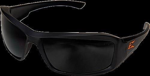 エッジ安全Brazeauトルク、メガネ、ブラックW /オレンジeロゴフレーム、煙レンズxb136-e2