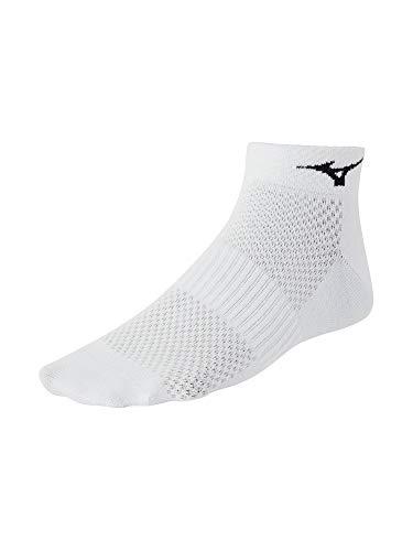 Mizuno Running Training Mid Socks (3-Pack), White/Black, Medium ()