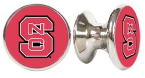 North Carolina State Wolfpack NCAA Stainless Steel Cabinet Knobs / Drawer Pulls (North Carolina Drawer Pulls)