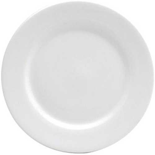 Oneida Plate Dinnerware Undecorated (Buffalo Bright White Ware Undecorated Rolled Edge Plate, 12 inch - 12 per case.)