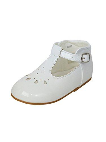 Baby Mädchen Gemusterte Brautjungfer Hochzeit Schuhe in Verschiedene Farben Weiß