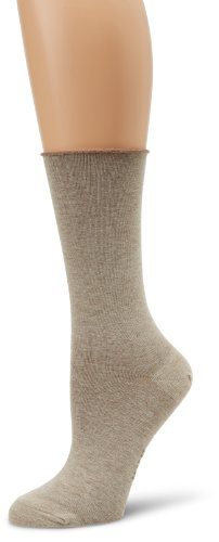 (HUE Women's Jeans Sock (Pack of 3), Oatmeal Heather, One Size)