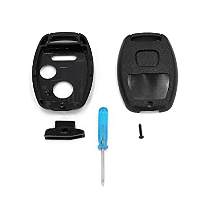 UTSAUTO Key Fob Remote Shell Case & Pad Cover Housing fits Honda 2010-2011 Accord Crosstour /2006-2011 Civic/ 2007-2013 CR-V / 2011-2015 CR-Z / 2009-2013 Fit / 2011-2014 Odyssey 2PC Pack (Only Casing): Car Electronics