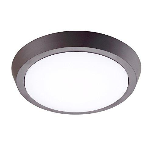 GetInLight 9 Inch Flush Mount LED Ceiling Light with ETL Listed, Soft White 3000K, Bronze Finish, IN-0302-3-BZ