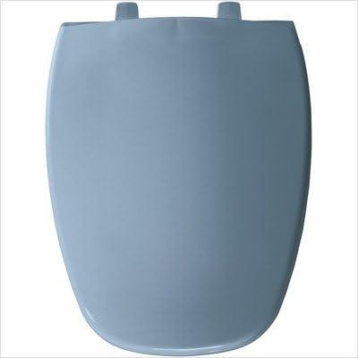 BEMIS Toilet Seat 18.625 in D Elongated Closed Front Black Molded Wood Black