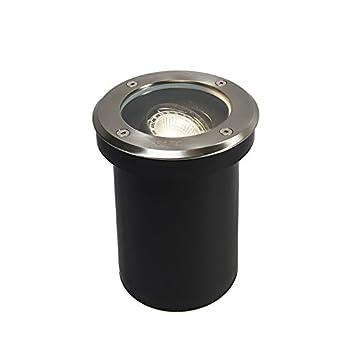 Superieur QAZQA Moderne Spot De Sol Orientable Delux Verre/Plastique/Acier Inoxydable  Acier/Extérieur