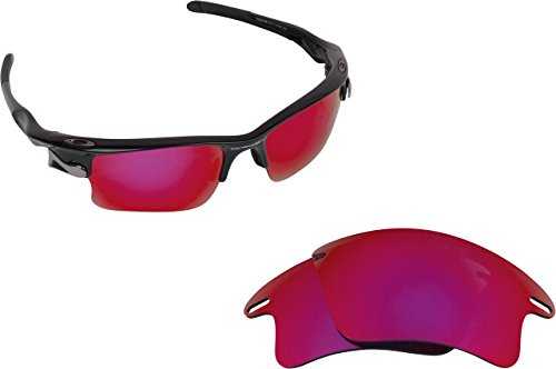 New SEEK Replacement Lenses Oakley FAST JACKET XL - Polarized Cold Red Mirror (Fast Jacket Positive Red compare prices)