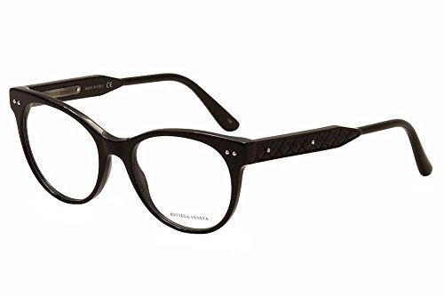 bottega-veneta-eyeglasses-bv0017o-bv-0017-o-001-black-cat-eye-optical-frame-52mm