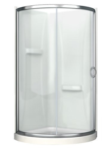 Neo Angle Shower Unit - Ove Decors Breeze 36 Shower Kit Paris Glass with Walls and Base