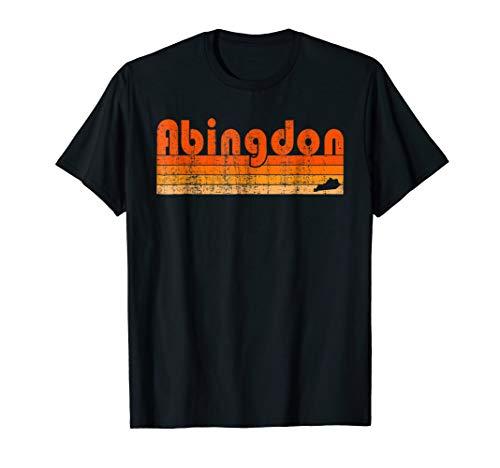 Retro 80s Style Abingdon VA T-Shirt
