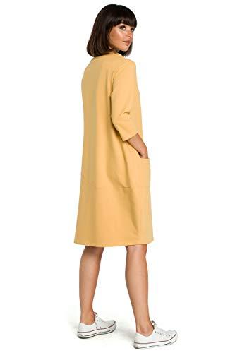 Taschen Tunika Clea Kleid mit Gelb qHnqtFwT58