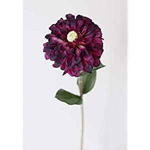 "Artificial Zinnia Flower in Purple - 29"" Tall 1"
