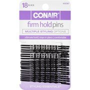 Scunci 55367 Black Styling Essentials Bobby Pins 18 Count, pack of 3