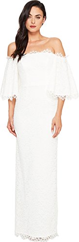 Nicole Miller Women's Devyn Lace Bridal Gown Ivory Dress
