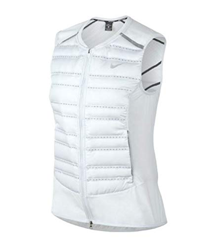 - NIKE AeroLoft Women's Running Vest (Pure Platinum/Black/Metallic Silver, Medium)