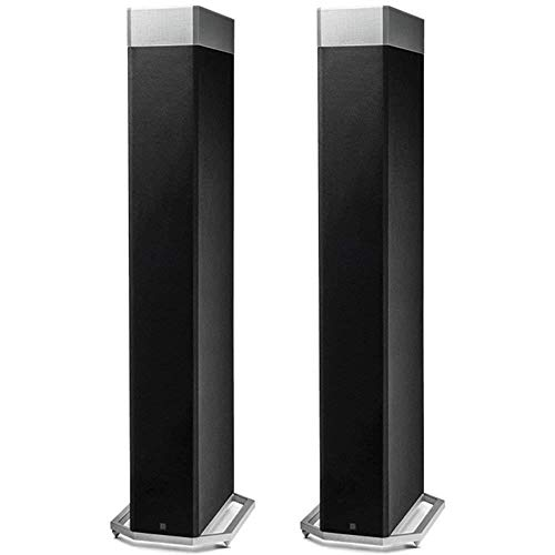 """Definitive Technology BP9080x High Performance Bipolar Tower Speaker with Integrated 12"""" Subwoofer and ATMOS Height Module - Pair (Black)"""