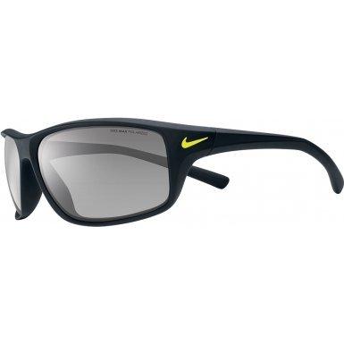 Nike Adrenaline Sunglasses, Matte Black, Grey with Silver Flash Lens
