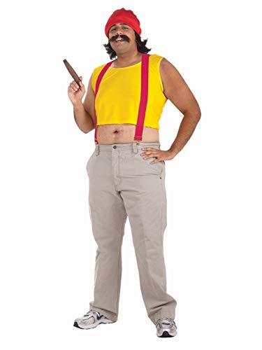 Men's Cheech Costume, Yellow/Red, One Size -