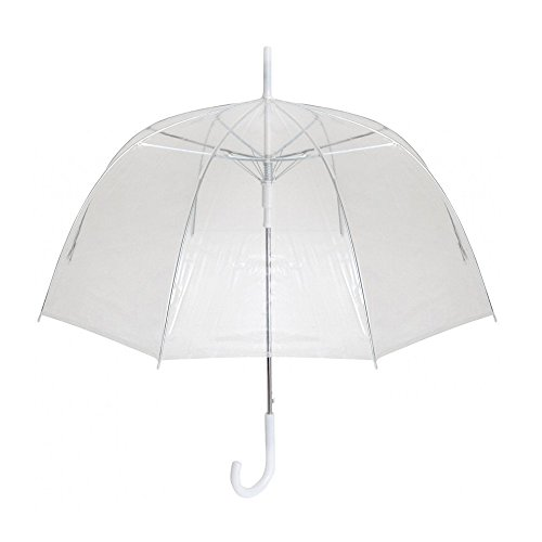 My Clear Dome Umbrella – Made Out Of Strong Materials Lightweight Elegant and Classy Design Wide Arched Bubble Umbrella