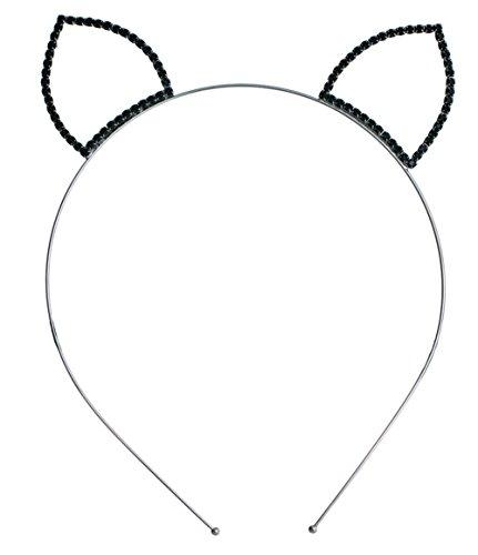 Mix&Match Festive Stone Halloween Costume Headband - Bat Ear Wing, Cat Ear, Devil Horn (Cat Ear-HJT-GN) ()