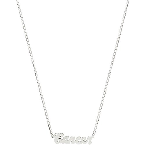 Nickel Free Mystical Sun Sign Horoscope Zodiac Nameplate Necklace, USA!, Cancer in Pewter