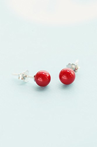 - (Silver) s925 Sterling Silver Women Gift Earrings earings Dangler Eardrop Elegant Women Girls Models Small red Berries