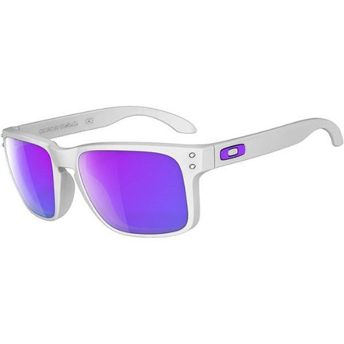 Oakley Holbrook Men's Lifestyle Designer Sunglasses - Matte White/Violet Iridium/One Size Fits All