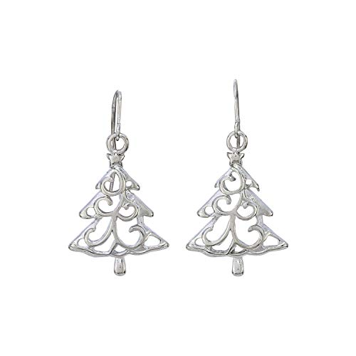 Madison Tyler Holiday Collection Holiday Trio Earrings - 1 Set Bells, 1 Set Gifts, 1 Set Christmas Tree (Tree Earrings Silver Dangle Christmas)