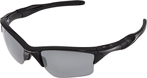 Oakley Mens Half Jacket 2.0 XL OO9154-05 Polarized Sunglasses - Oakley Jacket Sunglasses Black Flak