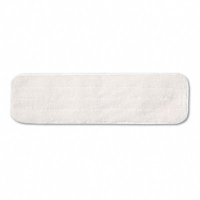 Rubbermaid Commercial Q412WH Dry Room Pad, Microfiber, 18