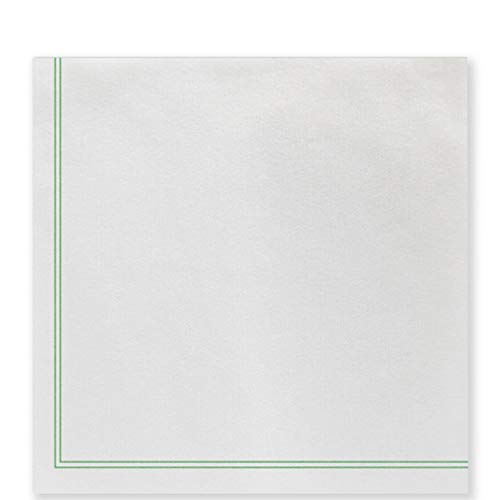 Papersoft Napkins Linea Green Dinner Napkins (Pack of 50)