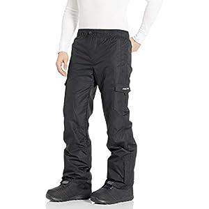 Arctix Men's Sentinel Pull Over Fleece-Lined Cargo Snow Pants, Black, Large (36-38W * 32L)