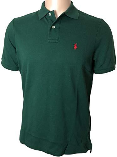 Polo Ralph Lauren Men's Classic Fit Mesh Polo Shirt (Pine Green, Medium)
