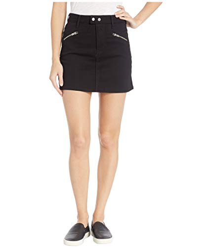 (Levi's Women's Zip Sport Skirt, Soft Ultra Black, 30 (US 10))