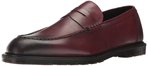Dr. Martens Mens Penton Penny Loafer Cherry Red