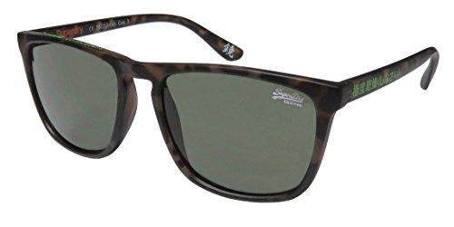 Superdry Sds Shockwave Mens Designer Full-rim 100% UVA & UVB Lenses Sunglasses/Eyewear (55-17-145, Matte Brown - Case Superdry Sunglasses