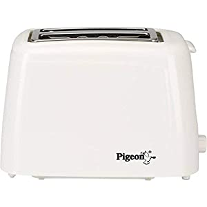 Pigeon by Stovekraft 2 Slice Auto Pop up Toaster. A Smart Bread Toaster for Your Home (White)