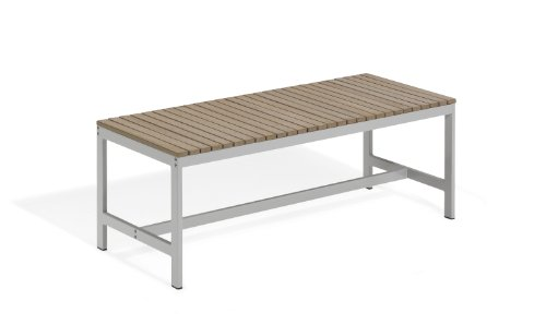 Oxford Garden TVBB48V Travira 48-Inch Backless Bench, Vintage Tekwood