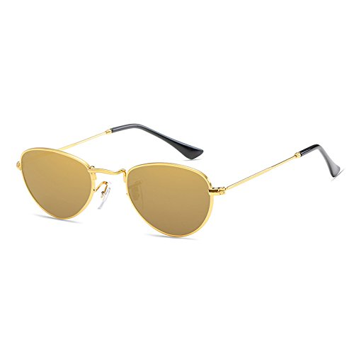 Gafas Frame Godea Gold Local mujer Gold de sol para vFwqgdzwY
