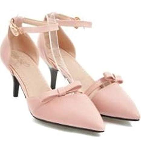 ZHZNVX Chaussures Femme PU Polyuréthane Eté Basic Escarpins Talon Stiletto Blanc/Beige/Rose