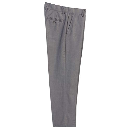 B-One Big Boys Gray Flat Front Formal Special Occasion Dress Pants 8