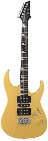 ギター メイプルローズウッドエレキギター用初心者や大人5色 アコギ 初心者 (色 : Yellow, Size : One size)