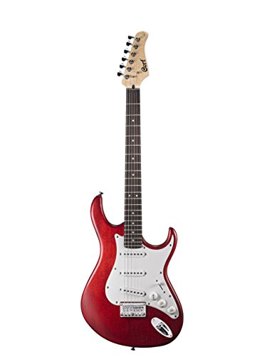 Cort G100OPBC Double Cutaway Electric Guitar 3 Single Coil Pickups, Open Pore Black Cherry